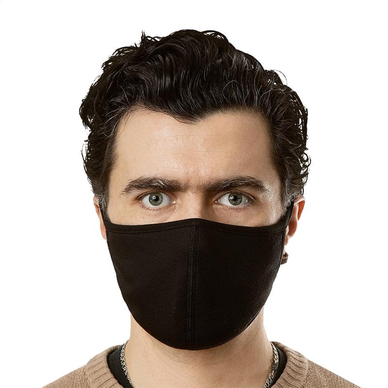 Face Mask (Black No Pattern) (3-Pack)