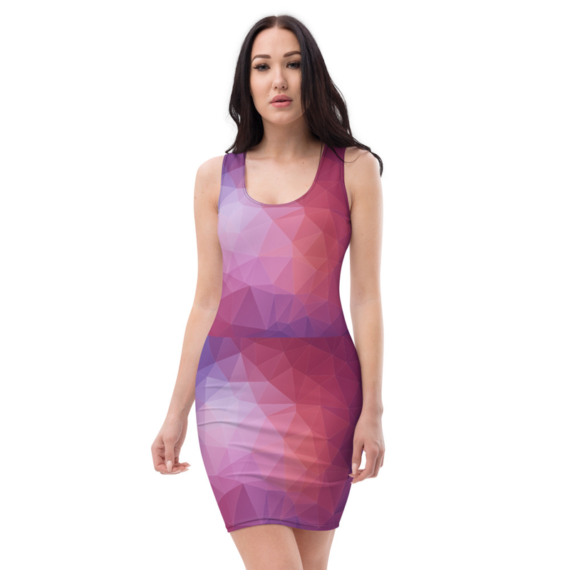 AHoney Mesh Triangles Sublimation Cut & Sew Dress