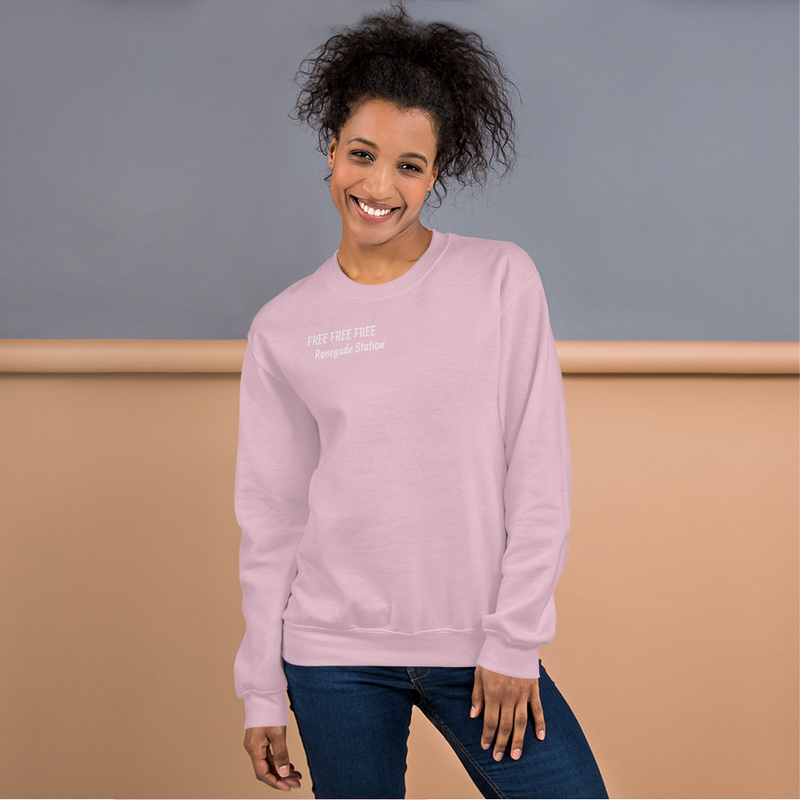 Luanne's Signature Pink FREE FREE FREE Sweatshirt