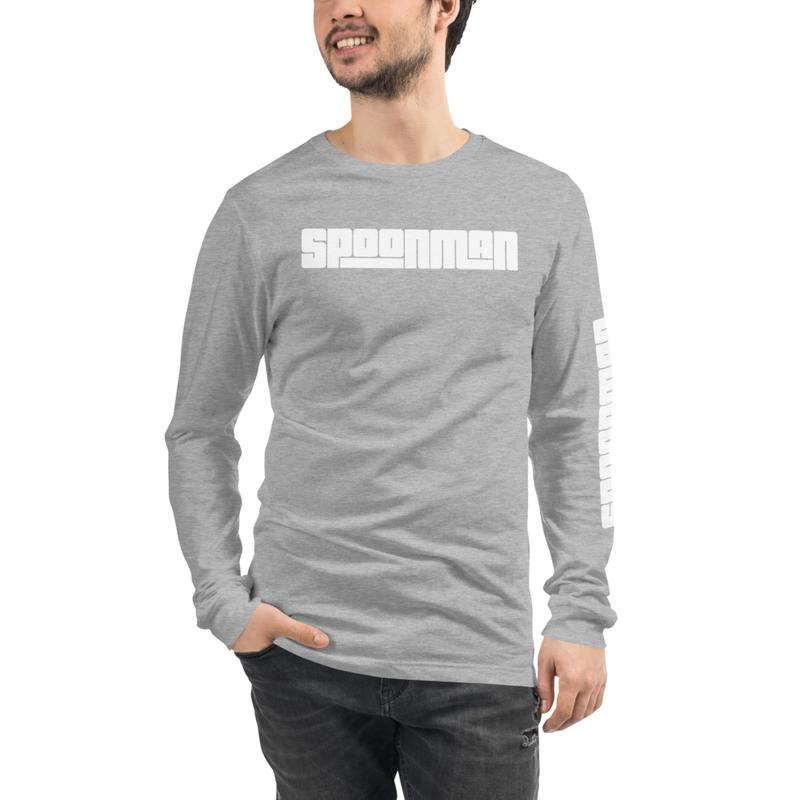 sPoonman Unisex Long Sleeve Tee, Left arm Logo