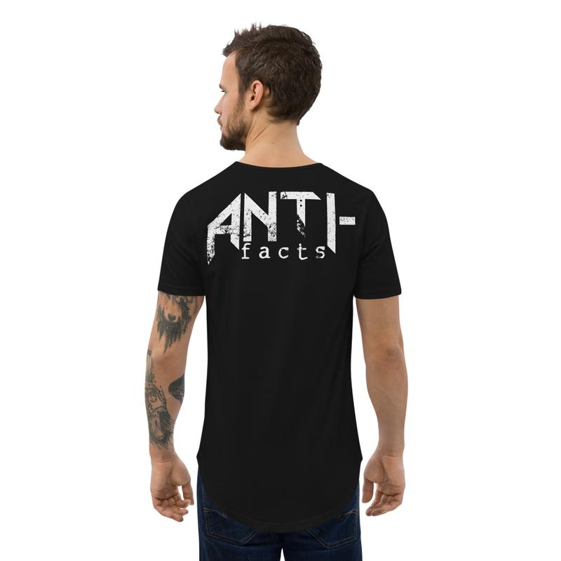 Anti-facts Curved Hem T-Shirt
