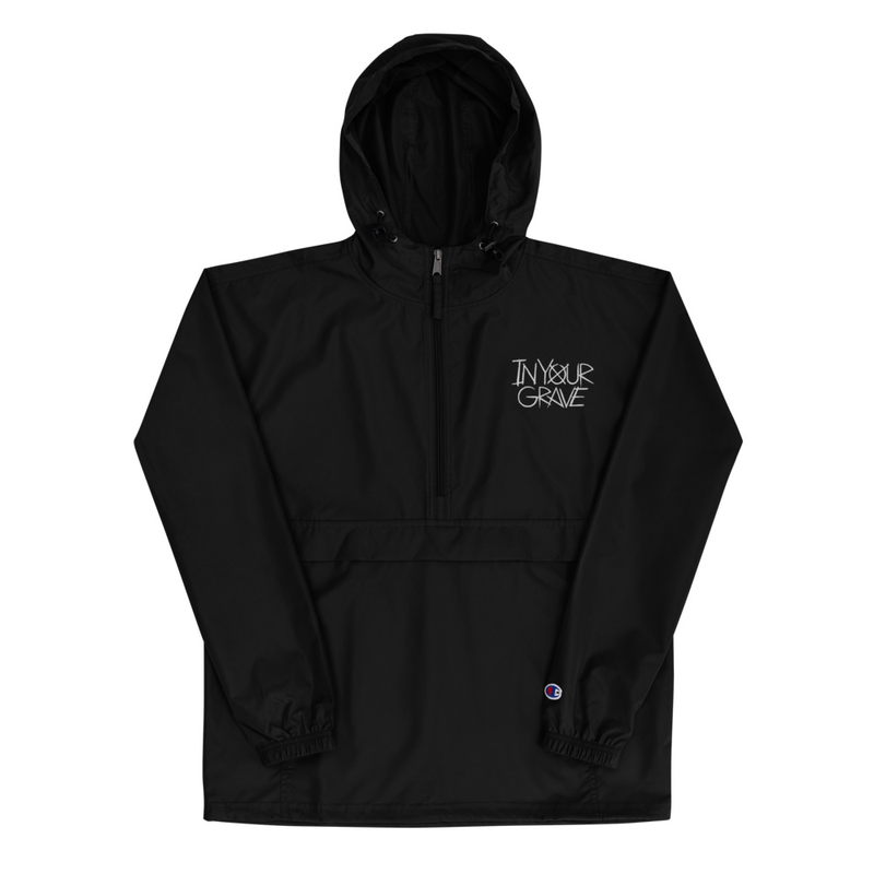 In Your Grave Embroidered Champion Packable Jacket
