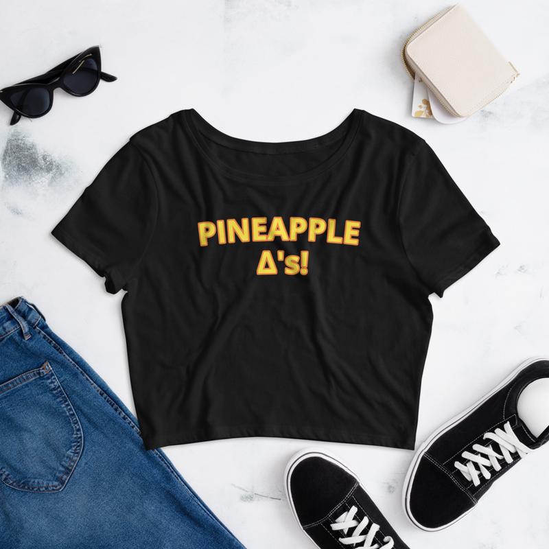 Pineapple Triangles Women's Crop Tee