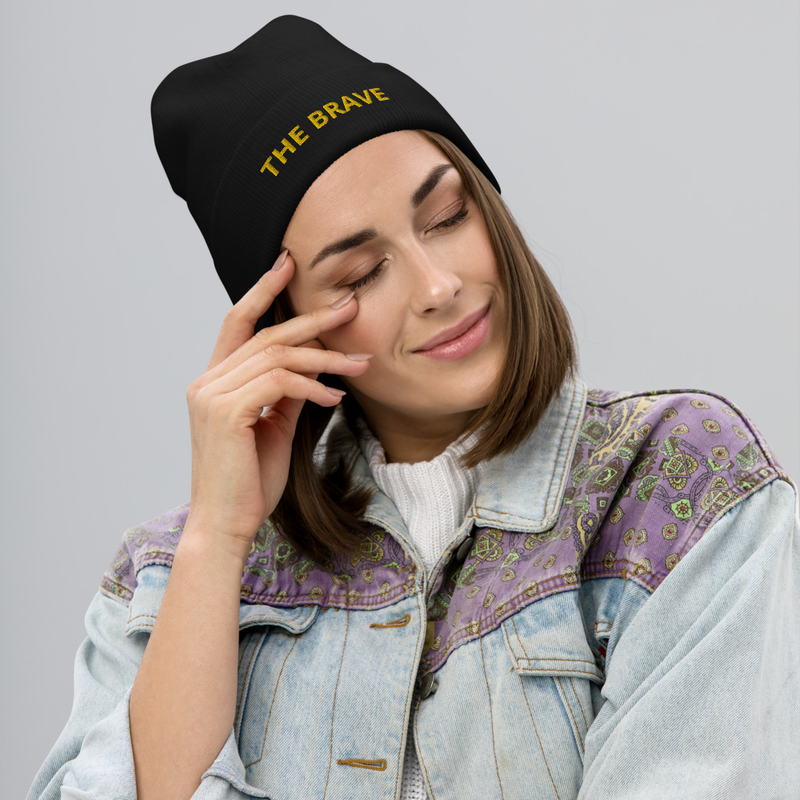 The Brave Embroidered Beanie