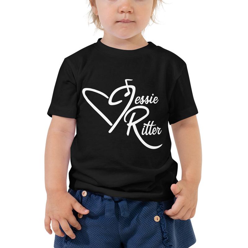 Toddler Short Sleeve Tee - Jessie Ritter Logo (black or pink)