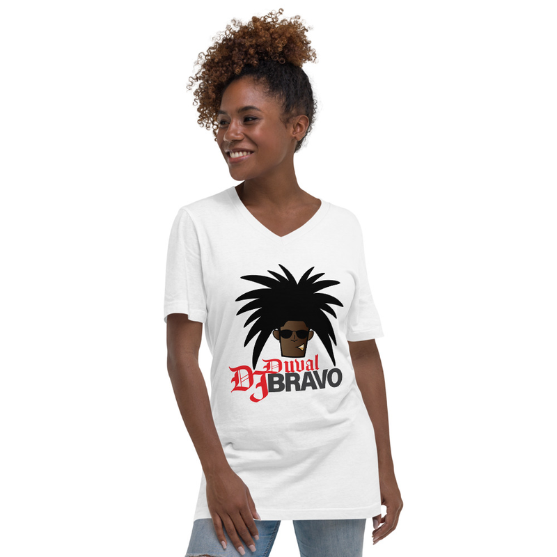 DJ Bravo Unisex Short Sleeve V-Neck T-Shirt copy copy