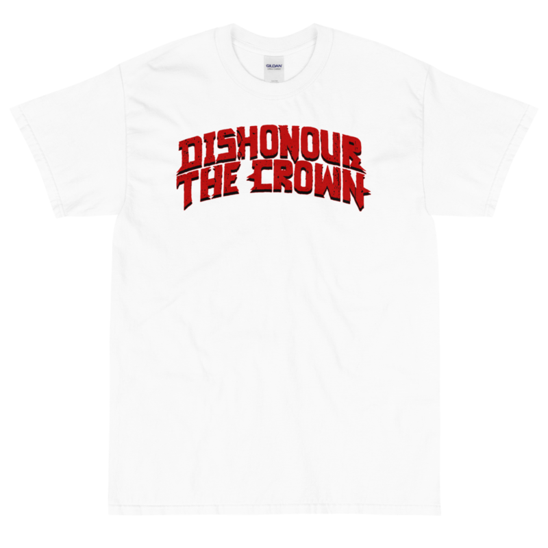 Dishonour The Crown logo T - White/Red