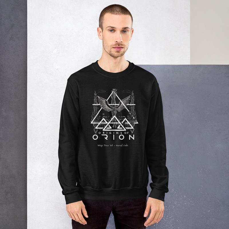 Wage Peace Mortal Gods Origins of Orion Unisex Sweatshirt