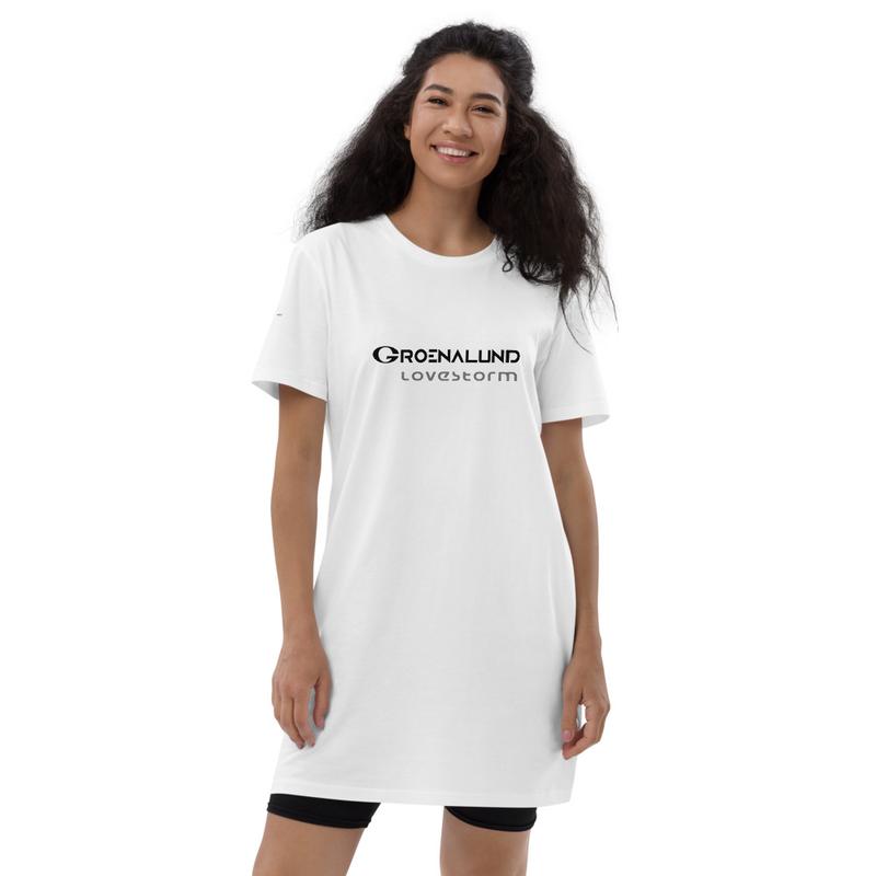 "Organic cotton t-shirt dress ""lovestorm"""