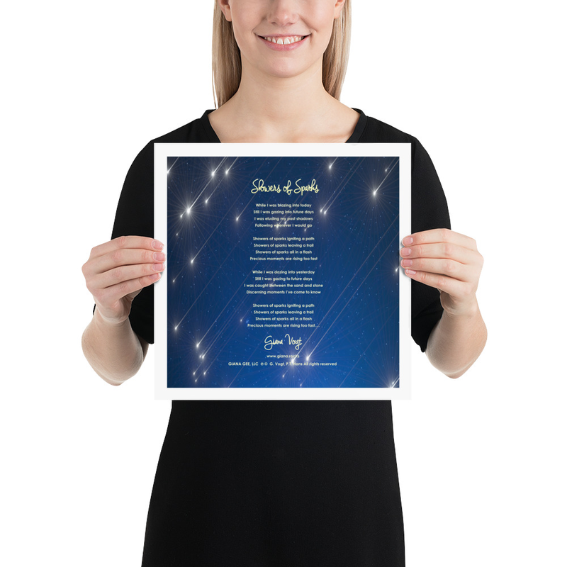 Showers Of Sparks Lyrics Poster