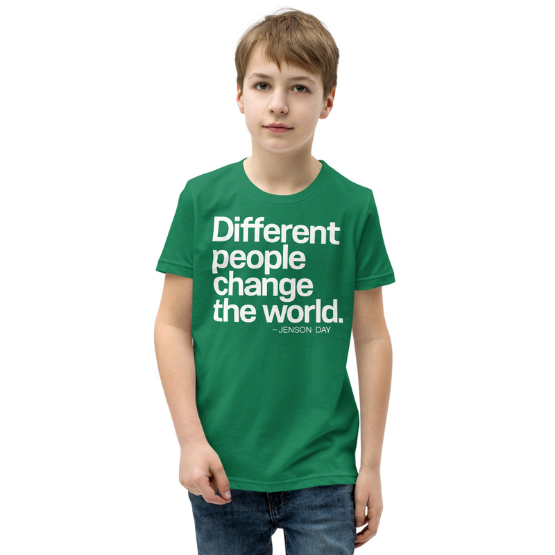 """Different People Change The World"" Short Sleeve YOUTH T-Shirt"