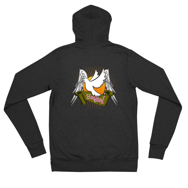 Hagiel's Unisex zip hoodie