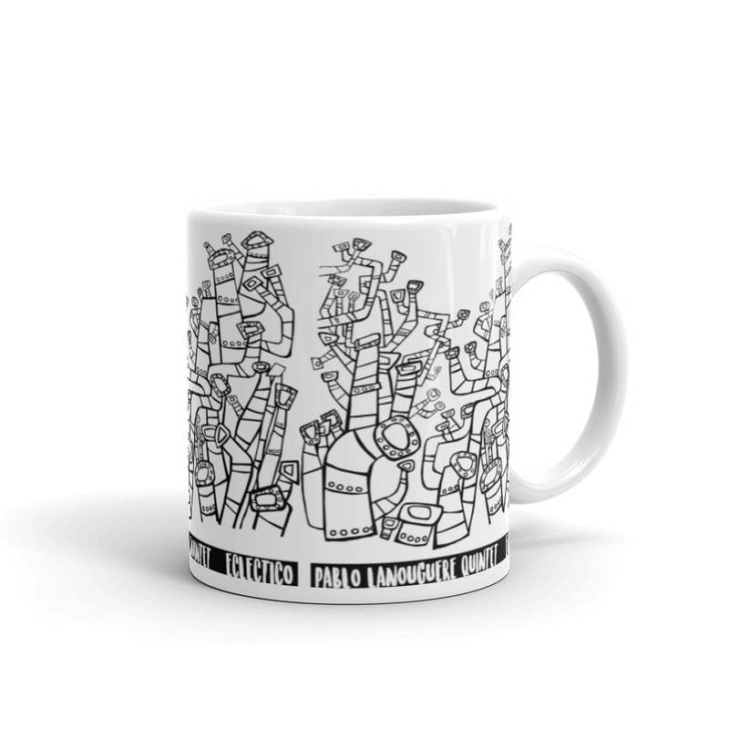 "White glossy mug ""eclectico B&W"""
