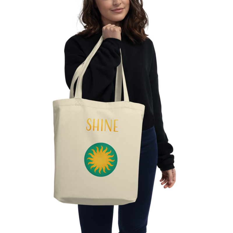 "Sun Logo + ""Shine"" Text - Eco Tote Bag"