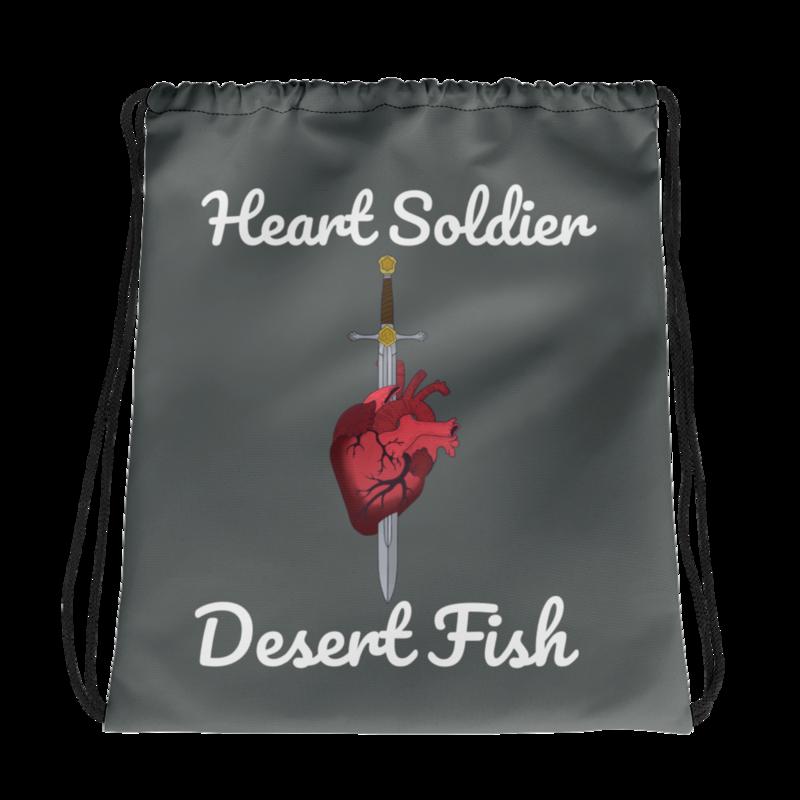Heart Soldier Drawstring Bag