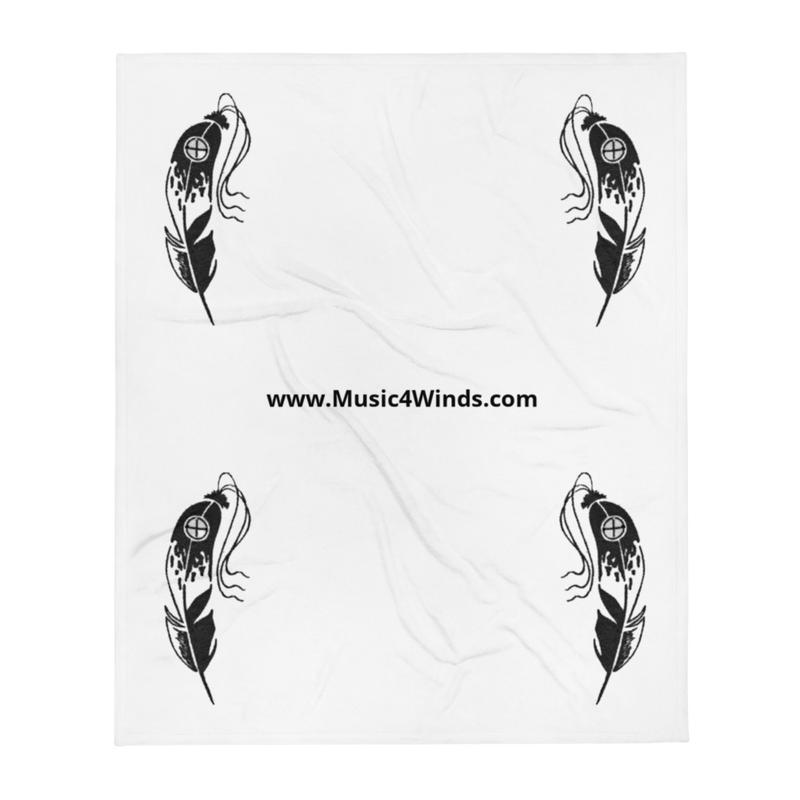 Eagle-Feather 4-Corners - Throw Blanket