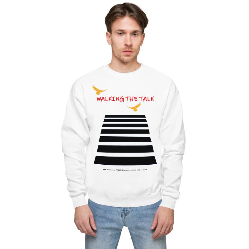Walking The Talk Unisex fleece sweatshirt