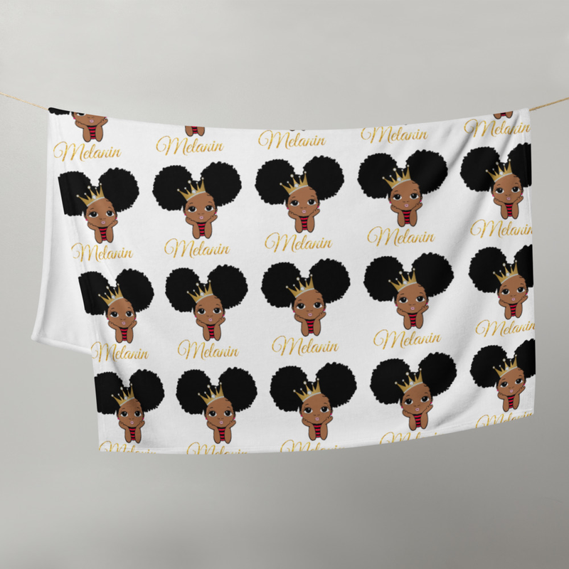 Princess Melanin Throw Blanket