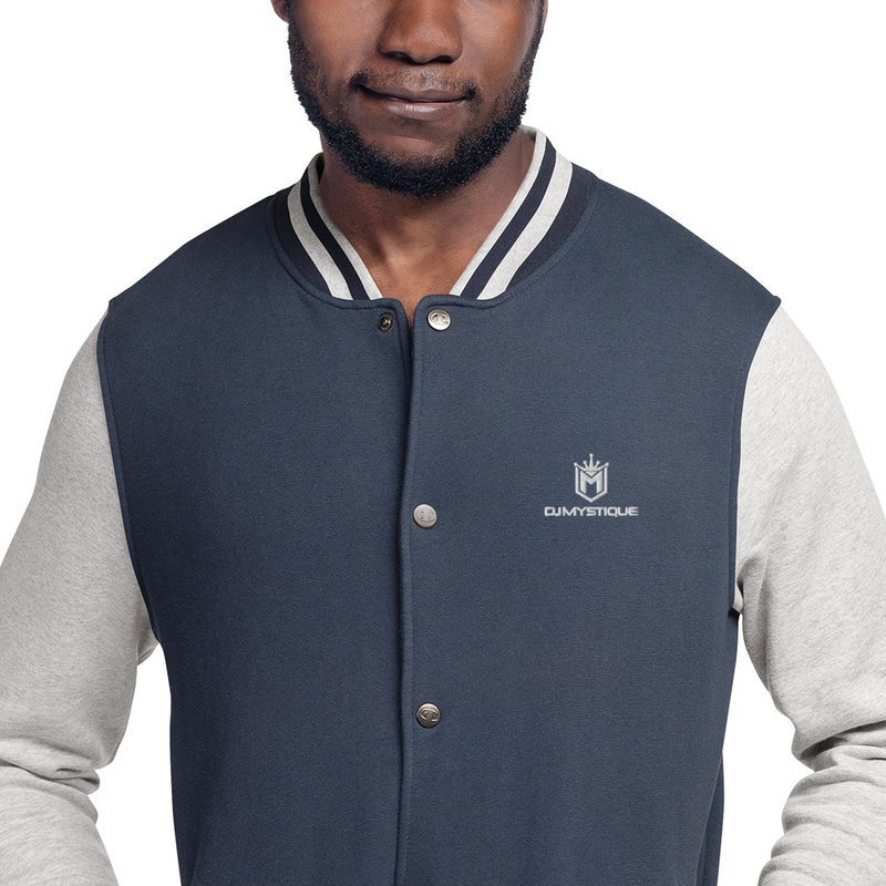DJ Mystque Embroidered Champion Bomber Jacket