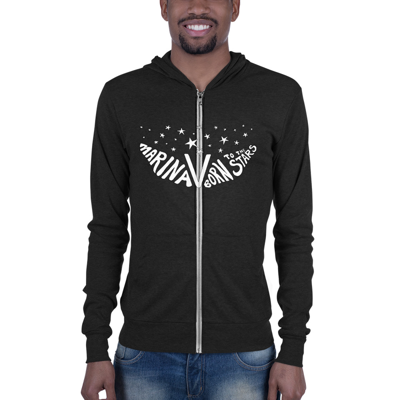 BORN TO THE STARS Triblend Unisex Hoodie