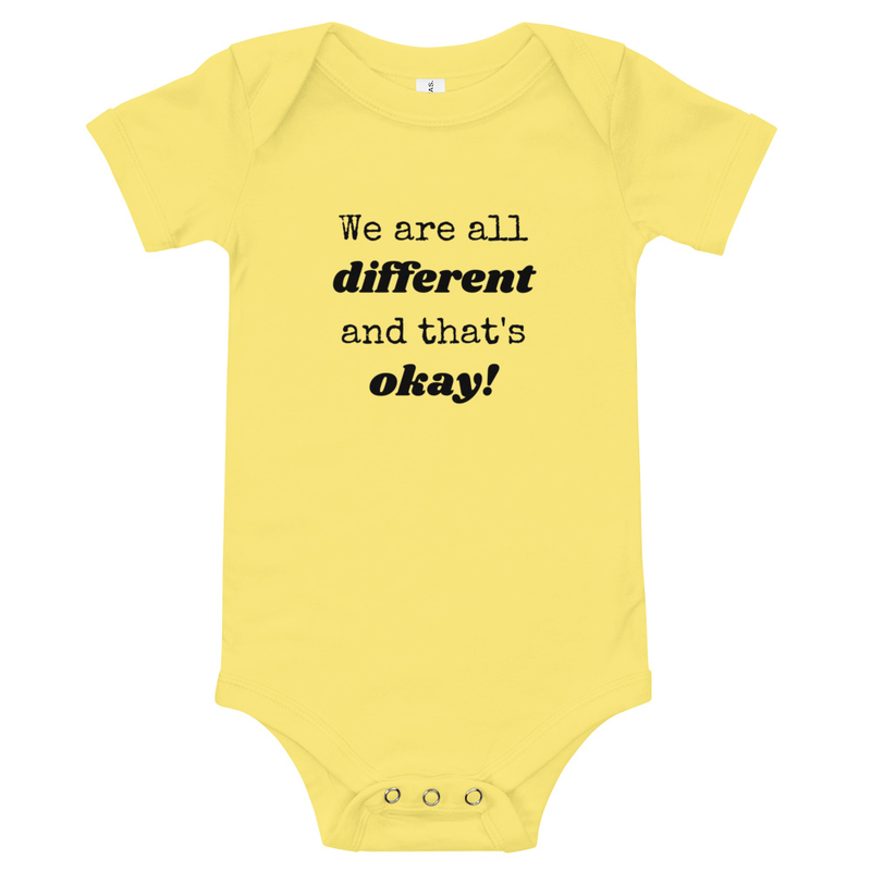 We Are All Different- Onesie