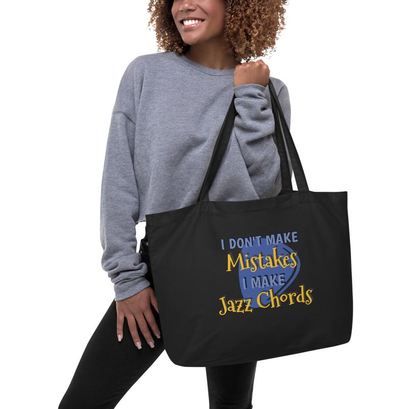 I Don't Make Mistakes, I Make Jazz Chords (Guitar Pic) Large Eco-Tote bag