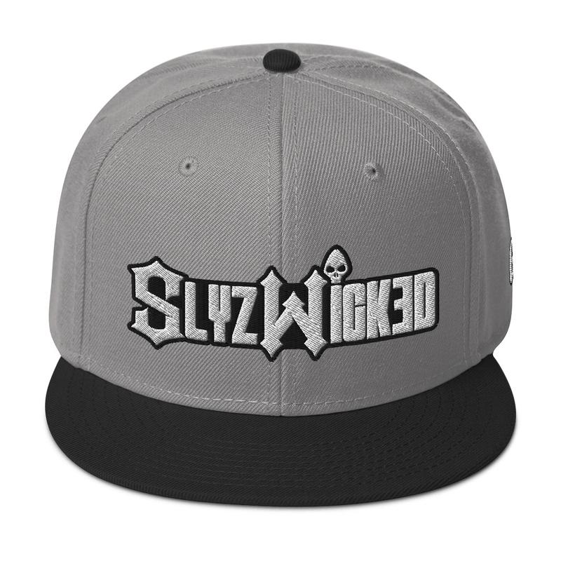 New Slyzwicked Logo Snapback Hat (GRE logo on left side)