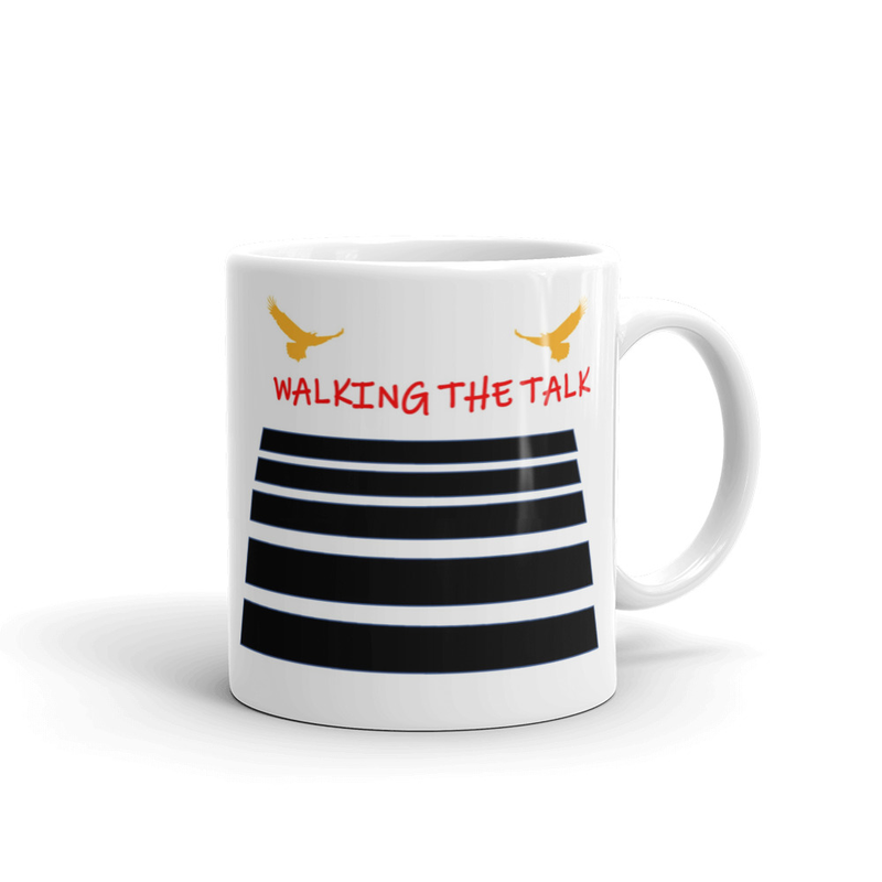 Walking The Talk White glossy mug
