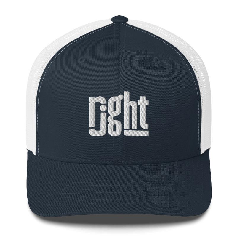 The rjght Trucker Cap - White Logo