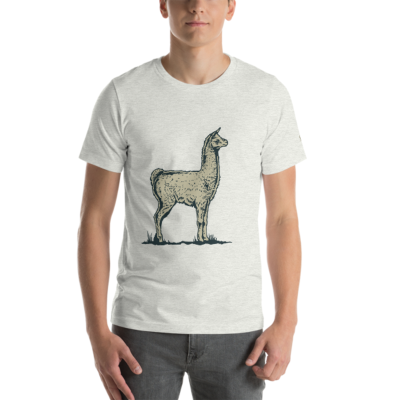 Llama Unisex T-Shirt mockup