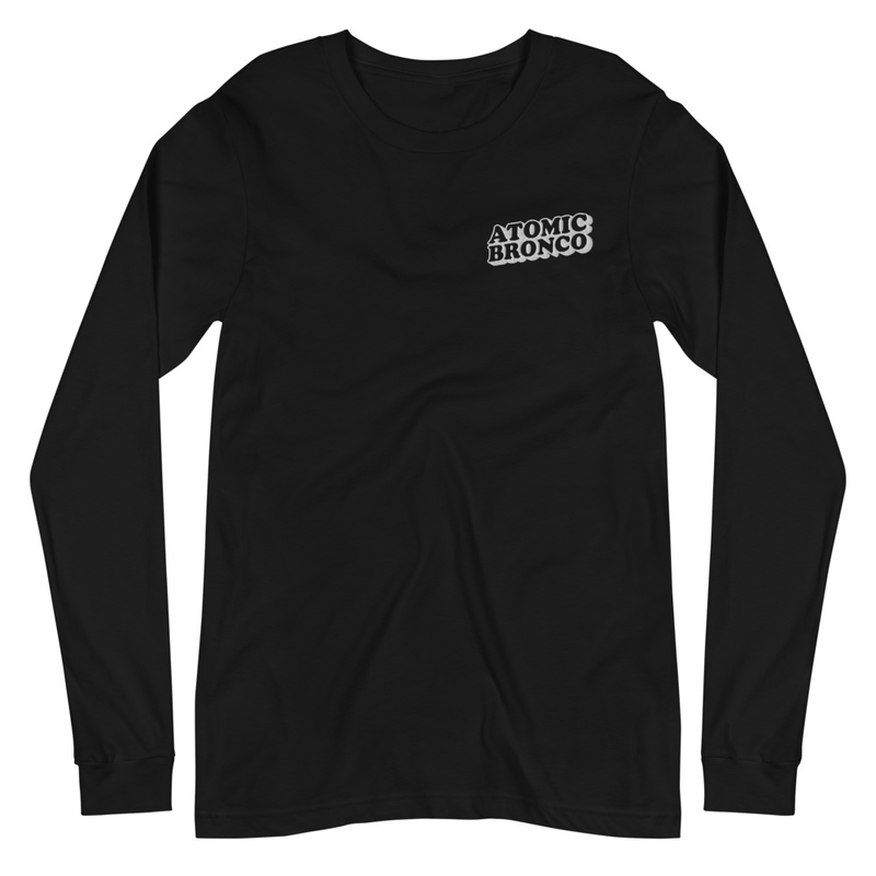 Long Sleeve Tee Embroidered White Logo