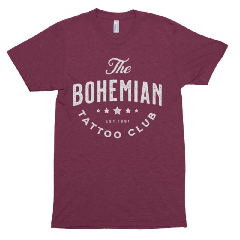 Bohemian Star Shirt` - Tri-Cranberry