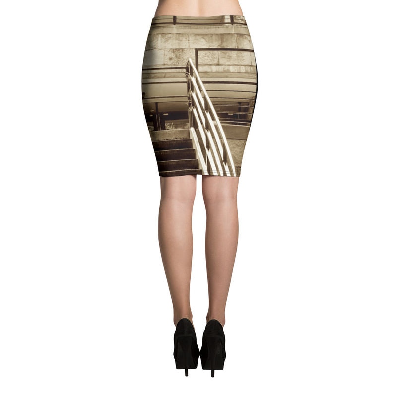 On The Deck Pencil Skirt
