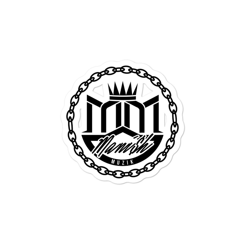 Bubble-free stickers - Black MANi$H Muzik Logo