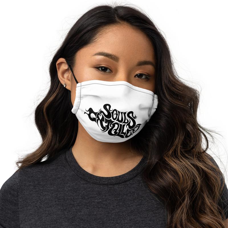 Souls Extolled Face Mask - Purple on Black