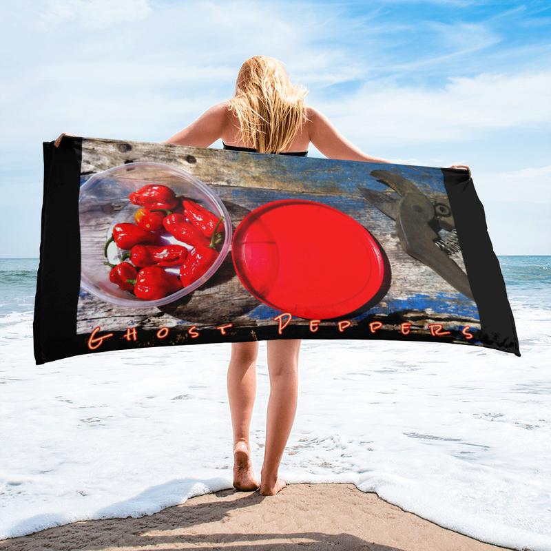 Ghost Peppers Beach Towel