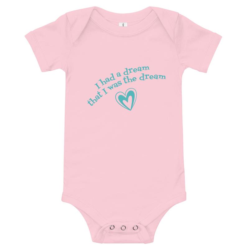 Baby short sleeve I Had a Dream one piece