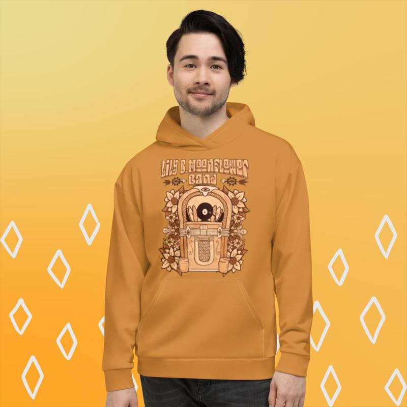 Limited Edition Unisex Hoodie - Jukebox & Sunflowers