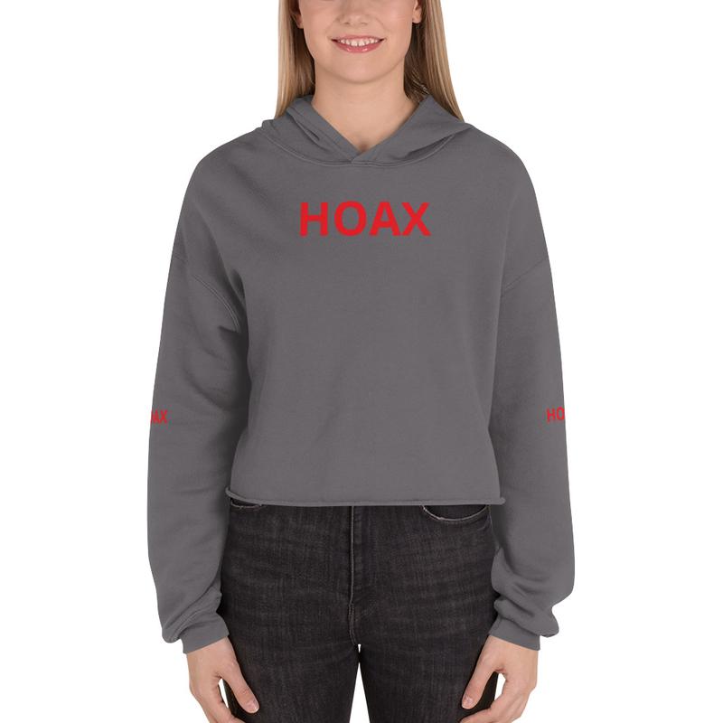 Female Hoax Crop Hoodie
