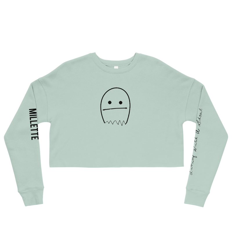 """""""Living With a Ghost"""" Crop Sweatshirt"""