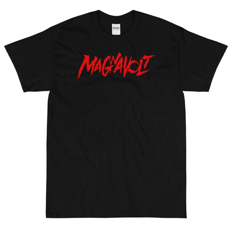 Magnavolt Black Tshirt with Red Logo