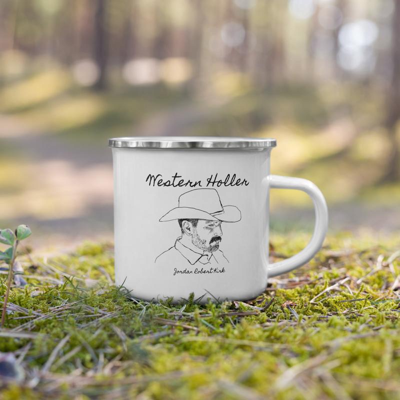Western Holler Enamel Mug