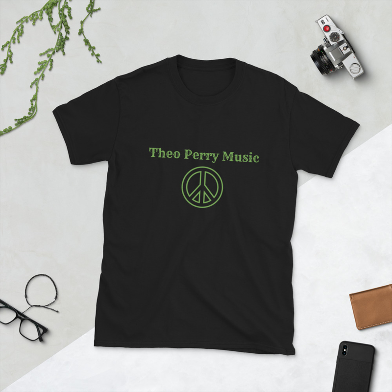 Short-Sleeve Unisex T-Shirt Theo Perry Music green peace