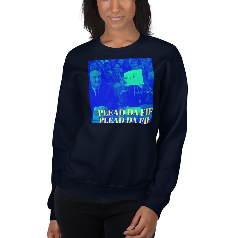 Plead Da Fif Unisex Sweatshirt (Blue)