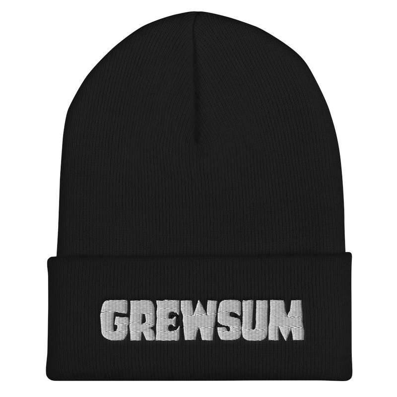 GrewSum - Embroidered Beanie