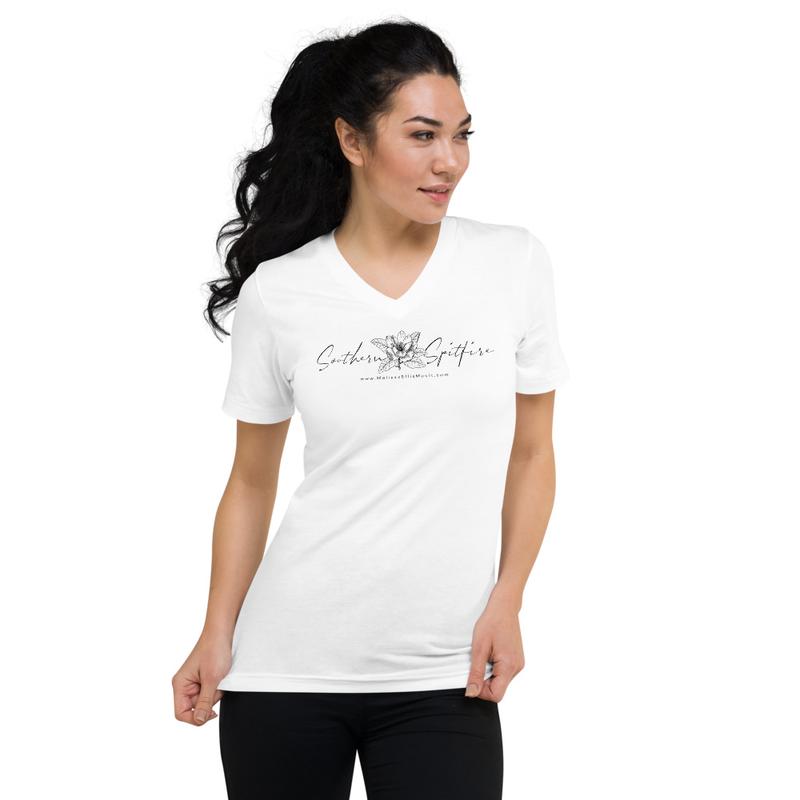 Short Sleeve V-Neck Southern Spitfire T-Shirt (unisex)
