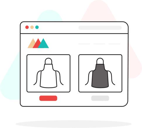 Choose your apron color illustration printful