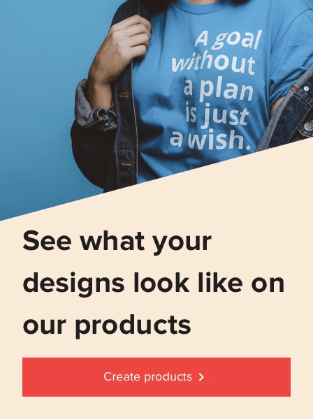Create products banner