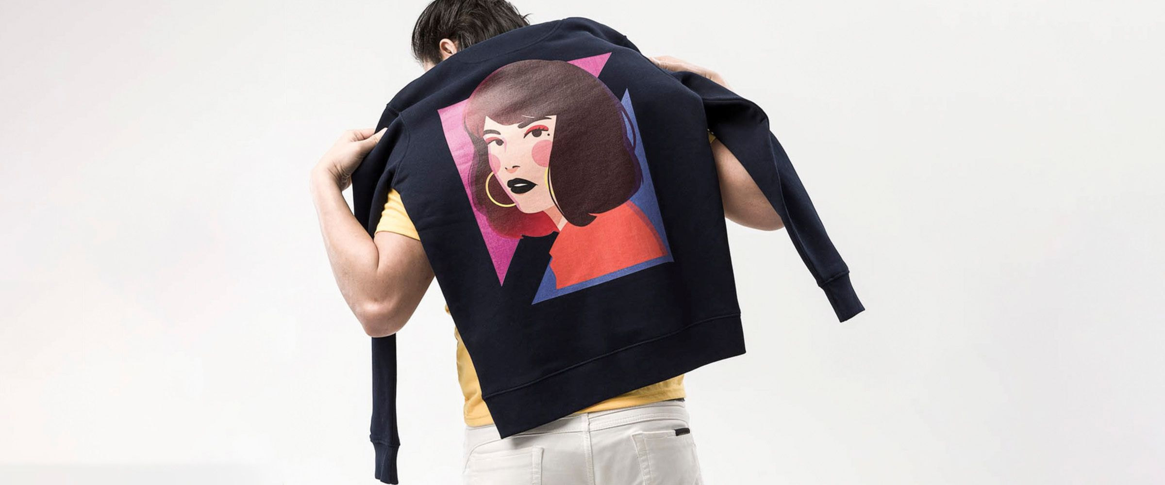 fashion on-demand custom sweatshirt