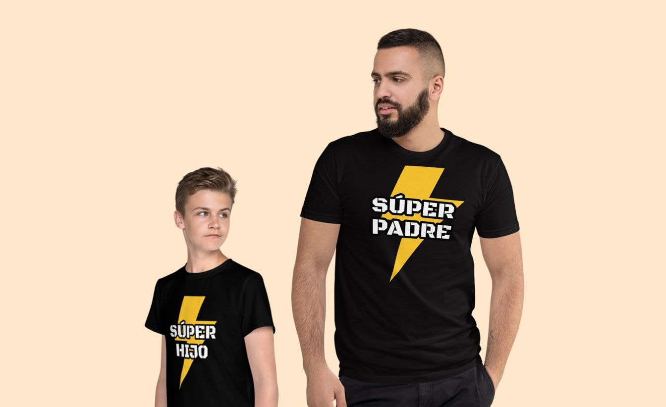 Camisetas para padres e hijos